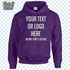 Custom Personalised Men's Printed HOODIE Name Funny Work Stag Do-Your text/logo4
