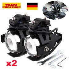 2x Motorrad Zusatzscheinwerfer Motorradscheinwerfer CREE U5 LED Lampe 125W Licht