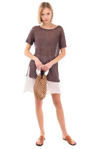 Weave Mesh Tote Bag Two Handles Slouchy Design Unlined