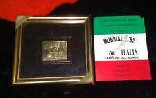 FRANCOBOLLO commemorativo in oro e argento  Mundial 82