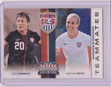 RARE 2012 PANINI AMERICANA ABBY WAMBACH / HEATHER MITTS CARD #2 WORLD CUP SOCCER