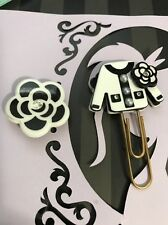 Chanel Inspired Flower  Jacket paper clip Bookmark Planner Journal Agenda A5 DIY