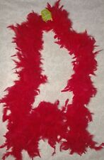 Feather Boa - 6' long Red for Dress up Bachelorette, School spirit NEW with tag