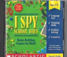 """I SPY """"SCHOOL DAYS"""" PC/MAC Computer Software Game By Scholastic, Inc. 2000"""