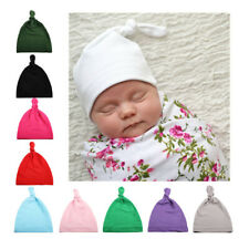 Newborn Baby Hat Toddler Infant Boy Girl Cotton Knot Hospital Beanie Hat Cap 34U
