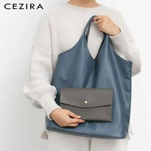 Shoulder Bag For Women Vegan Leather Tote With Coin Purse Free Shipping