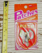 Iron-on Patches Montana saddle patch by Voyager emblem state souvenir NEW NIP