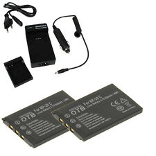 2 batterie + supporto di ricarica F Casio Exilim ex-s500 ex-s770 np20