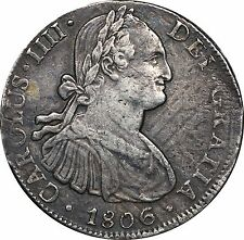 1806 Mexico 8 Reales, KM# 109, TH, Possibly Overstruck or Double Struck