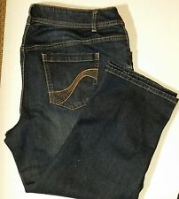 Lane Bryant Simply Straight Dark Wash Jeans Sz 16 New With Tags