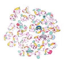 40pcs Cute Waterproof Unicorn Scrapbooking Stickers Decorative DIY Diary Gift OH