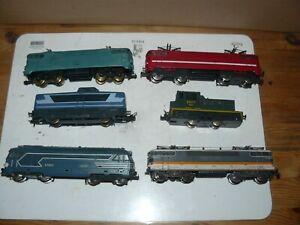 (B) train électrique ho SNCF Jouef Lima lot de  locomotives