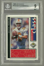 New listing 1998 Upper Deck UD Choice #193 Peyton Manning RC - BGS 9  9.5 - Rookie