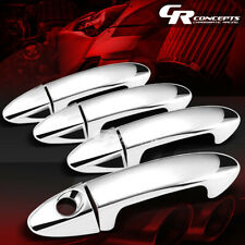 FOR 09-14 FORD FIESTA CHROME MIRROR ABS 4-DOOR HANDLE COVER NO PASSENGER KEY