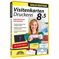 Markt + Technik Visitenkarten-Druckerei 8.5 Gold Edition