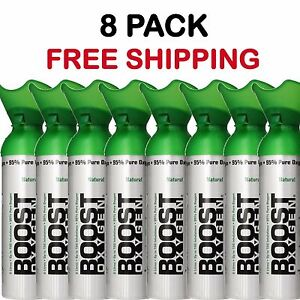 Oxygen Bar In A Can Boost Oxygen Therapy Energy 8 pack LARGE Cans Free Shipping