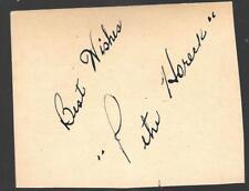 Pete Horeck 1944-52 Detroit Red Wings Blackhawks Bruins Signed Card dec. 2009!