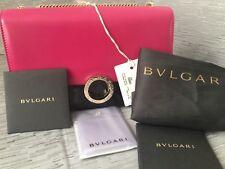 New!!! Auth Pink Beautiful Bulgari Chain Strap Crossbody Bag/Purse