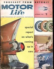 Motor Life Magazine September 1955 What's Coming Up GD No ML 031017nonjhe