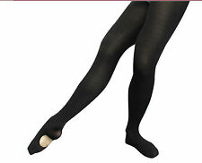 Vintage Body Wrappers A31 Women's Size Small/Medium Black Convertible Tights