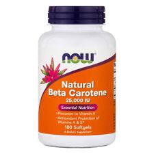 NOW FOODS Natural Beta Carotene, 25.000 iu 180 softgels - VITAMINE