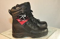 """Rothco Forced Entry Sidezip Tactical  8"""" Leather Boot Composite Black Mens 5063"""