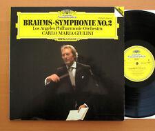 DG 2532 014 Brahms Symphony 2 Giulini LA Philharmonic 1981 NEAR MINT W/Germany