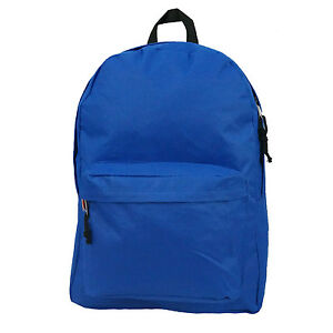 """K-Cliffs Basic Backpack Classic School Book Bag 16"""" Simple Student Daypack LM198"""