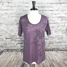 Life Is Good Womens Short Sleeve Top Purple Size Medium Sheer