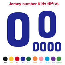 6PCS Baseball Football Kids Jersey Number Vinyl Heat Transfer Iron-On T-Shirt