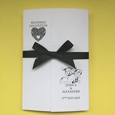 100 Gatefold Personalised Wedding Invitations