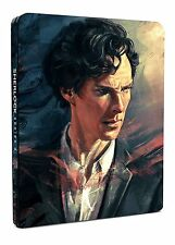 Sherlock - Series 4 Blu Ray STEELBOOK Complete Fourth 4th 4 four BBC Drama NEW