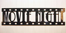 Movie Night, New Metal Wall Art, Home Theater Decor, Contemporary Movie Sign