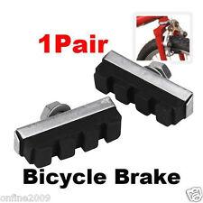 2PCS Durable Rubber Bicycle Cycling Bike V Brake Holder Pads Shoes Blocks Black