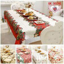 Christmas Wipe Clean Fabric Tablecloth Dining Kitchen Table Cover