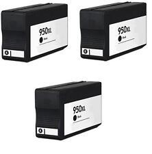 3 cartuchos de Tinta NON OEM HP 950xl OfficeJet 8100 8600 8610 8620 pro n911g