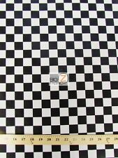 CHECKERED POLY COTTON PRINT FABRIC - 5 Colors - BY THE YARD DIY TABLECLOTH DECOR