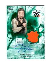 WWE Jimmy Uso 2018 Topps Undisputed Green Autograph Relic Card SN 3 of 50