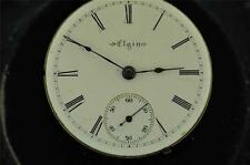 VINTAGE 18 SIZE ELGIN HUNTING CASE MOVEMENT FROM 1903 GRADE 207 RUNNING