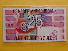 Netherlands Holland 25 Gulden 5-April-1989 (UNC)
