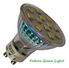 GU10 12 SMD LED 240V 2.2W 150LM WARM WHITE BULB ~35W