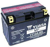 Batterie YUASA sans entretien YT12A-BS pour Kymco Super Dink 125 i 2009
