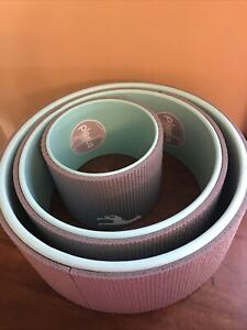 "Plexus Wheel 3 Pack Set 12"" 10"" & 6""  Back Stretch Roller for Yoga Gray Teal EUC"