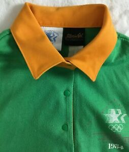 LA 1984 Olympics Vintage  Staff Uniform Size Med Green And Gold