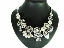 Silver Coloured Statement Costume Necklaces & Pendants