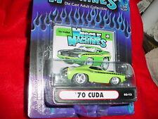 MUSCLE MACHINES '70 CUDA 02-12 MOPAR GREEN MIP FREE USA SHIPPING