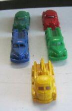 Lot Of 11 Vintage Small Plastic Trucks ,Cars & Buses