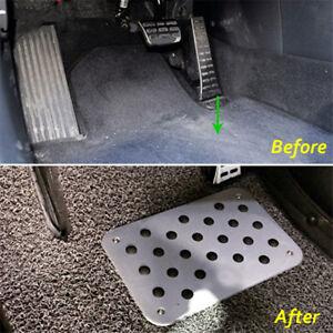 Universal Aluminum Truck Car Floor Mat Carpet Heel Plate Foot Pedal Rest Useful
