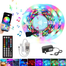 Música 65FT-16FT sincronización Bluetooth control remoto App habitaciones Bar Tv Led Tira Luces KIT COMPLETO