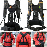 Adjustable Camera Carrying Chest Harness Strap Waist Belt Lens Bag Pouch Holder
